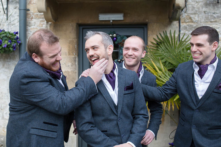 groomsmen at the bear stroud gloucestershire