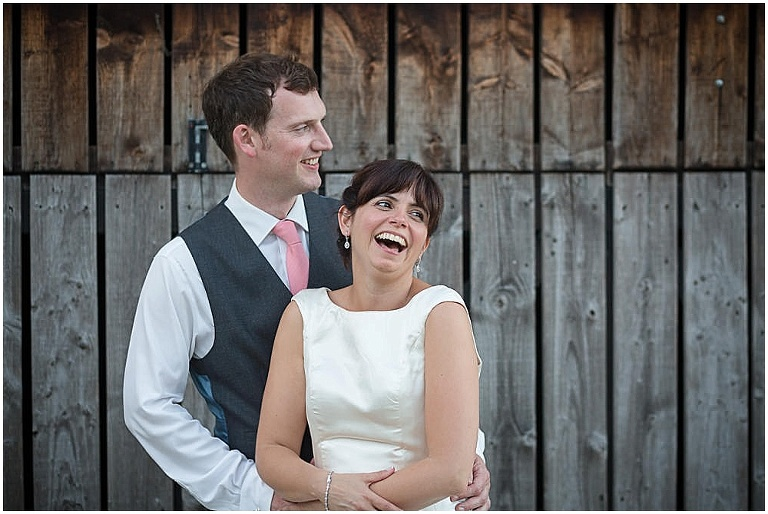 bride and groom jenners barn wedding Fairford Gloucestershire