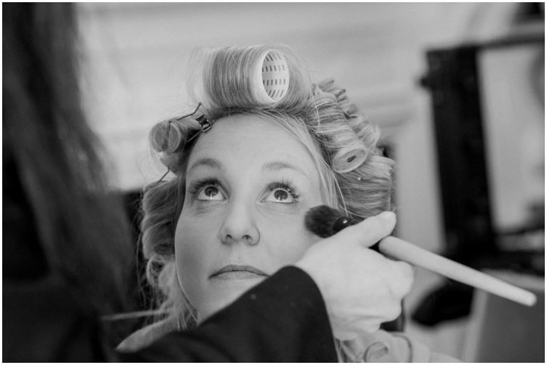 bride getting ready Berkeley Castle Wedding Gloucestershire