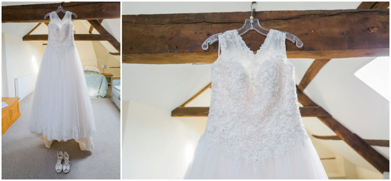 wedding dress at Berkeley Castle Wedding Gloucestershire